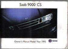 Saab 9000 CS 2.0 2.3 Turbo 1992-93 Original Owners Manual (Handbook)