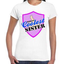 grabmybits - Mundos Mejor Hermana Camiseta de mujer,regalo,Camiseta,diseño