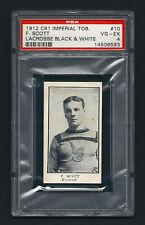PSA 4 1912 C61 LaCROSSE CARD #10 F. SCOTT