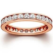 1 1/2ct Channel Set Diamond Eternity Ring 14K Rose Gold