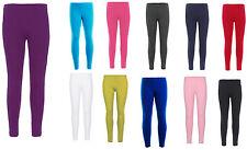 Girls full Length Leggings Plain New Dance Stretch Child Teens 2-13 Years