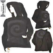 Elfen Goa Psy Gothic Larp Wicca Fleece Jacke Jacket mit Zipfelkapuze Boho cyber
