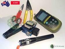 Tandem Ftth Fiber Optic Kit Pon Optical Meter 10mw Vfl One Click Cleaner 800 Nbn