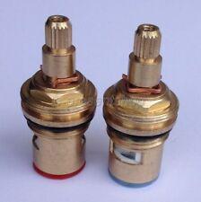 "Replacement ceramic disc cartridges tap valves quarter turn 20 1/2"" hot cold"