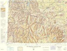 Topographical Map - Bitterroot Range Montana, Idaho, Wyoming 1961 - 23 x 30.09