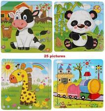 Kids Children Wooden Animals Educational Toys Puzzle Jigsaw Building Blocks 9pcs