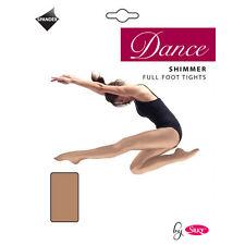 Girls Silky Full Foot Shimmer Ballet Tights Children Dance Tights Silky 5-13