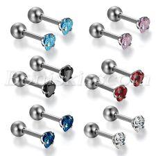 Earrings Ear Bone Nose Nails Studs Mens Women Charm Stainless Steel Heart Shape