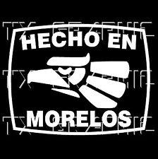 Hecho En Morelos  Estado de Mexico  Aztec Aguila Decal   Sticker