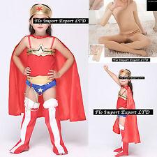 Wonder Woman Bambina Vestito Carnevale Travestimento Costume Dress WWCHIL01