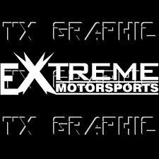 EXTREME MOTORSPORTS DECAL TURCK CAR RACING ENGINE EURO USA DRIFT DTM STICKER