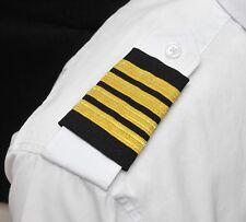 Professional Pilot Metallic Gold Bar Black Epaulets