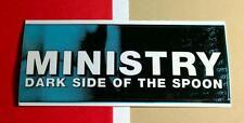 MINISTRY DARK SIDE OF THE SPOON BLACK WHITE BLUE Car Board MUSIC STICKER