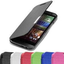 SLIM FLIP Case HTC One 2 M8 Tasche Handy Klapp Schutz Hülle Etui Cover