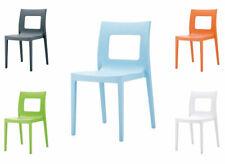Chaise LUCCA fauteuil siège plastique empilable design cuisine jardin bar neuf