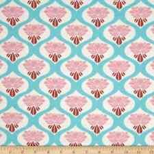 Tanya Whelan fabric material CHLOE ROSE sky blue Floral print sold by metre/FQ