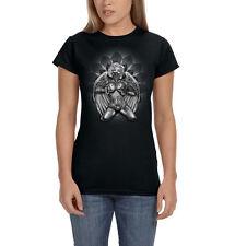 Sexy Marilyn Monroe Angel Wings Gangster Tattoo Bandana Women's T-Shirt Tee