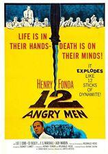 """12 Angry Men"".. Henry Fonda Lee J Cobb Classic Retro Movie Poster Various Sizes"