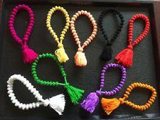 Buddha Hand knotted Wool CHAKRA Bracelet Beads Mediatation Yoga Hindu Wrist Mala