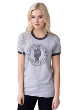 Northern Soul Keep The Faith Fist Logo Ringer T Shirt Tee Top Mod Womens 60s
