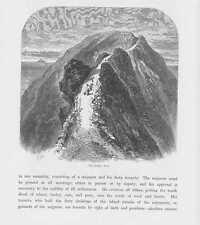 Sark La Coupée Sercq Sèr HOLZSTICHE um 1880 Herm Jethou Guernsey Channel Islands