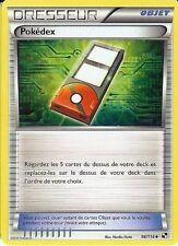 """Carte Pokemon """" DRESSEUR """" Noir & Blanc POKÉDEX 98/114 UNCO  VF"""