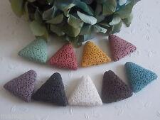 3 Lava Perlen Dreieck  27mm Lavaperle für Charm Anhänger DIY Farbauswahl