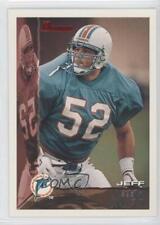 1995 Bowman #163 Jeff Kopp Miami Dolphins Rookie Football Card