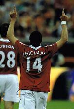 Chicharito - Javier Hernandez SIGNED Manchester United 12x8 Photo AFTAL