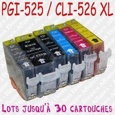 Cartouches d'encre XL non OEM Canon Pixma 525 526 x 4 5 6 8 10 12 15 16 20 25 30