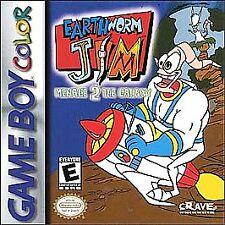 EARTHWORM JIM MENACE 2 GALAXY GAME BOY COLOR GBC COSMETIC WEAR