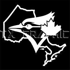 DECAL FOR TORONTO BLUE JAYS ONTARIO CANADA BASEBALL  WINDOW STICKER LAPTOP