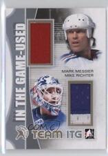 2013-14 In the Game-Used #TIR-23 Mark Messier Mike Richter New York Rangers Card