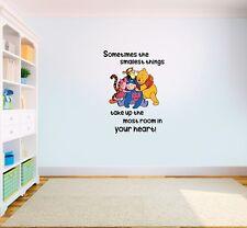 Winnie the Pooh Smallest things Quote Vinyl Wall Art Kids Nursery Sticker LSD11