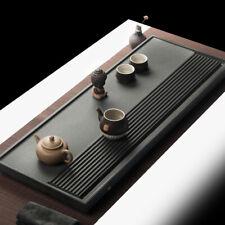 heavy stone tea tray black stone tea table water draining tea serving trays  new