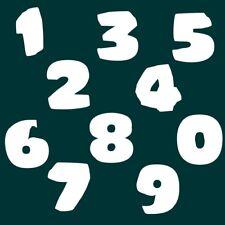 6 cm Zahlen Aufkleber Klebezahlen Ziffern Sticker 1 bis 200 Stück weiß SA-23