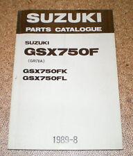 Teilekatalog Suzuki GSX 750 F Stand 08/1989