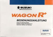 SUZUKI WAGON R + manuale di istruzioni 1998 MANUALE MANUALE BA