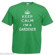Keep Calm Giardiniere Giardinaggio Adulti T Shirt da uomo 12 Colori Taglia S - 3XL