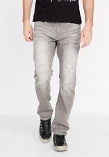 $119 Buffalo BPM12033 EVAN Slim Destroyed Grey Jeans 30 32 33 34 36
