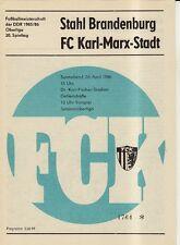 OL 85/86 FC Karl-Marx-Stadt - Stahl Brandenburg