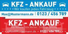 Werbebanner Banner KFZ Service Klima Klimaanlage  200 x 70 cm