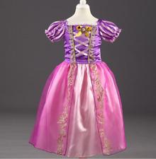 2018 NWT Girls Rapunzel Princess Dress Cosplay Costume party Birthday dress O55