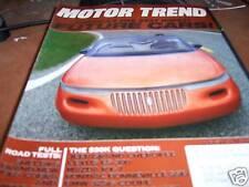 Motor Trend Magazine 8/1992 Lincoln Convertible