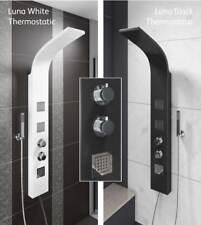 black/white luxury thermostatic shower tower column panel aspire