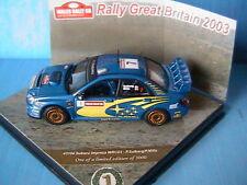 SUBARU IMPREZA WRC03 #7 RALLYE GB 2003 VITESSE 1/43 SOLBERG MILLS WORLD CHAMPION