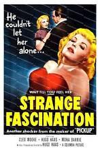 Étrange fascination: vieux film poster reproduction.