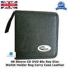 Manga 48 CD DVD Blu Ray Disc Billetera Soporte Bolsa De Almacenamiento Estuche de Cuero PU HQ
