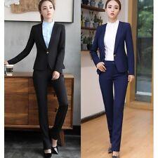 Elegante Tailleur completo donna nero giacca maniche blu nero pantaloni  w9034 83c8261f797