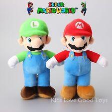 "2X Super Mario Bros. Stand LUIGI & MARIO Plush Doll Stuffed Animal Toy 10"" Teddy"